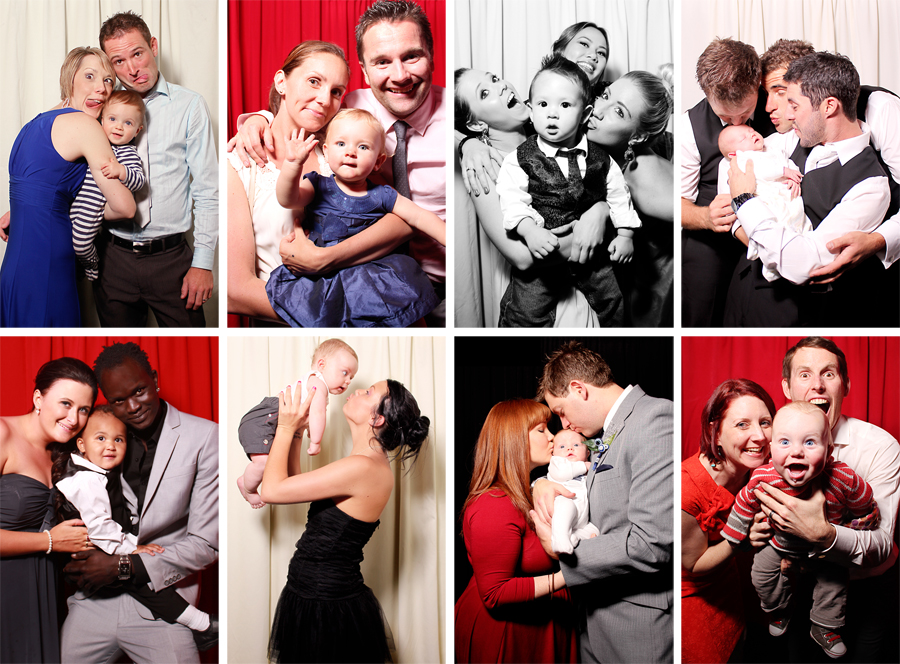 Cute Babies in Photobooth Pics