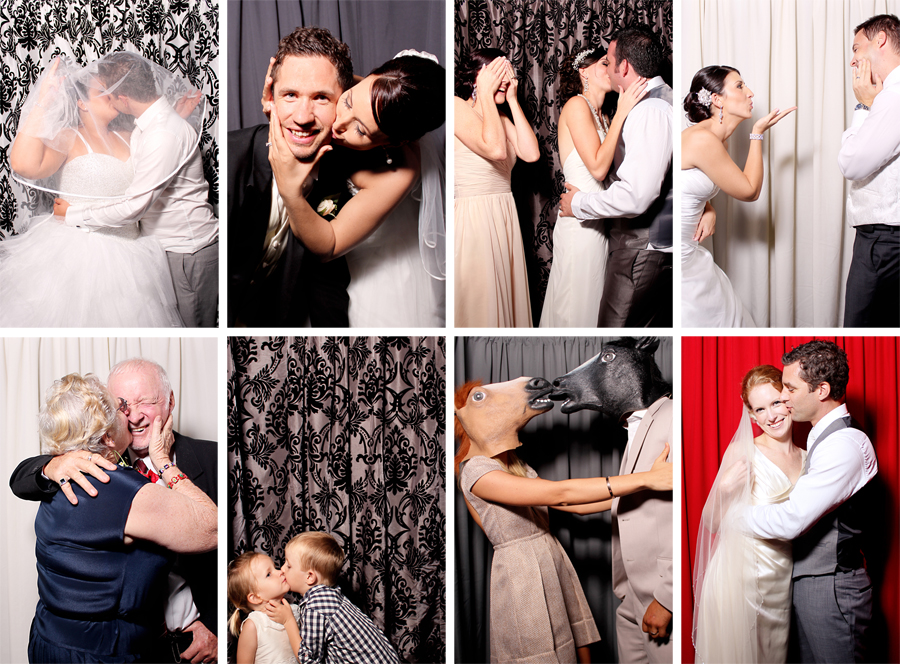 Kissing in Photobooth