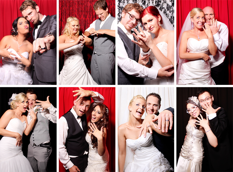 Wedding Ring Pics in Photo Booth