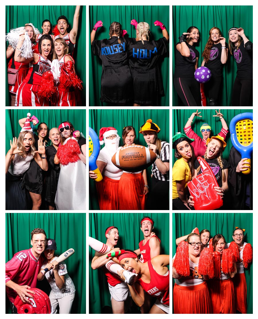 Party Photo Booth with Green Backdrop