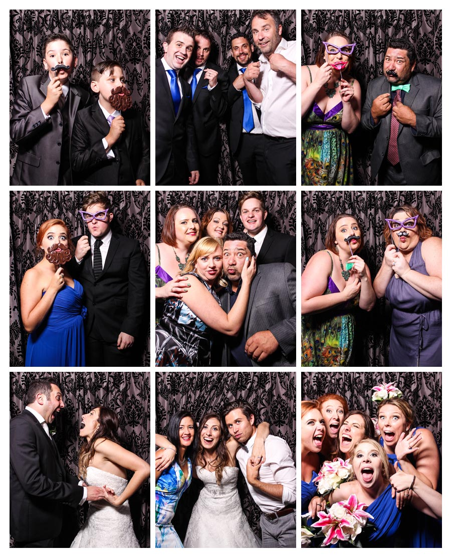 Photo booth at Wedding with Glamour Backdrop