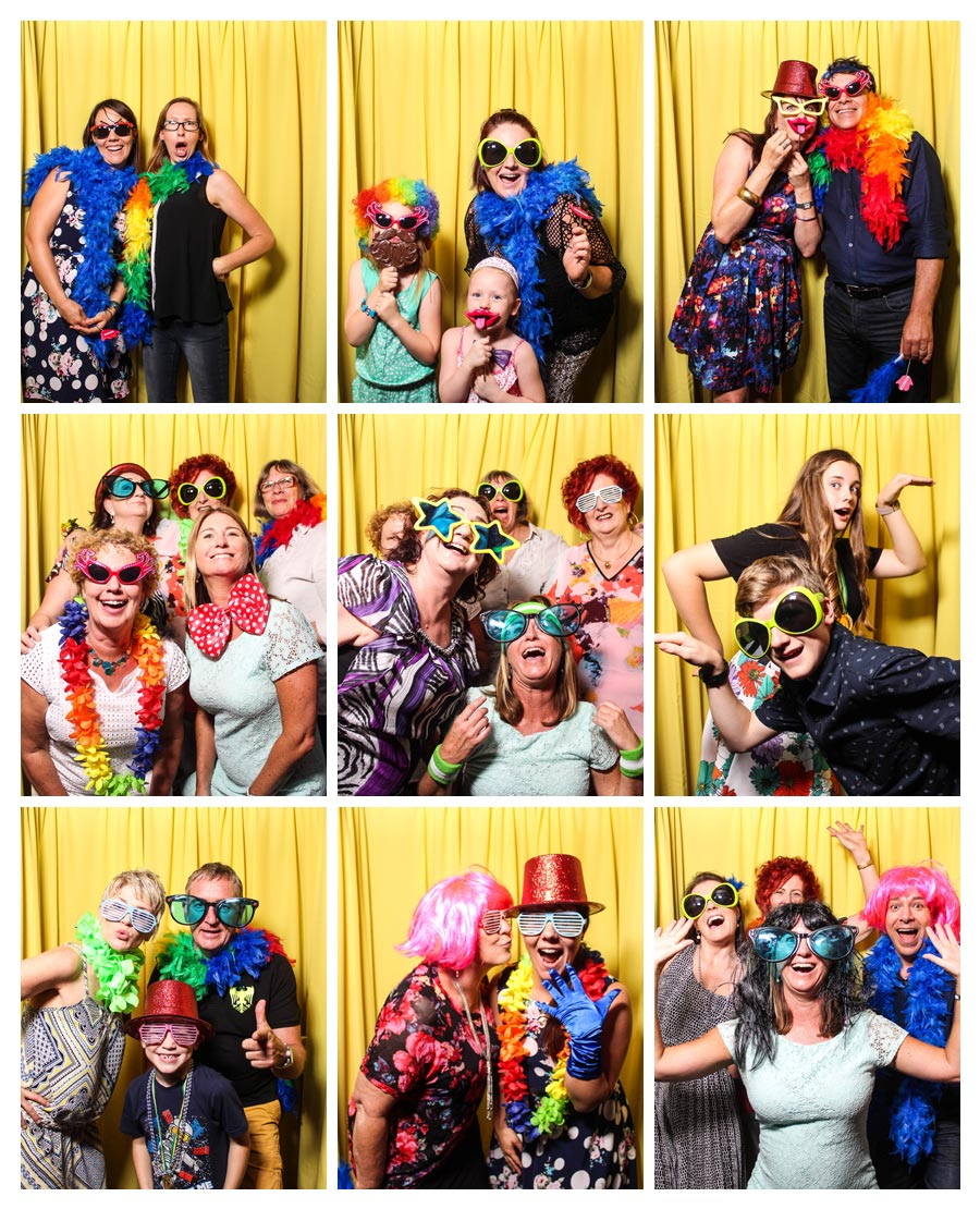 Yellow Backdrop for Photobooth at Birthday Party