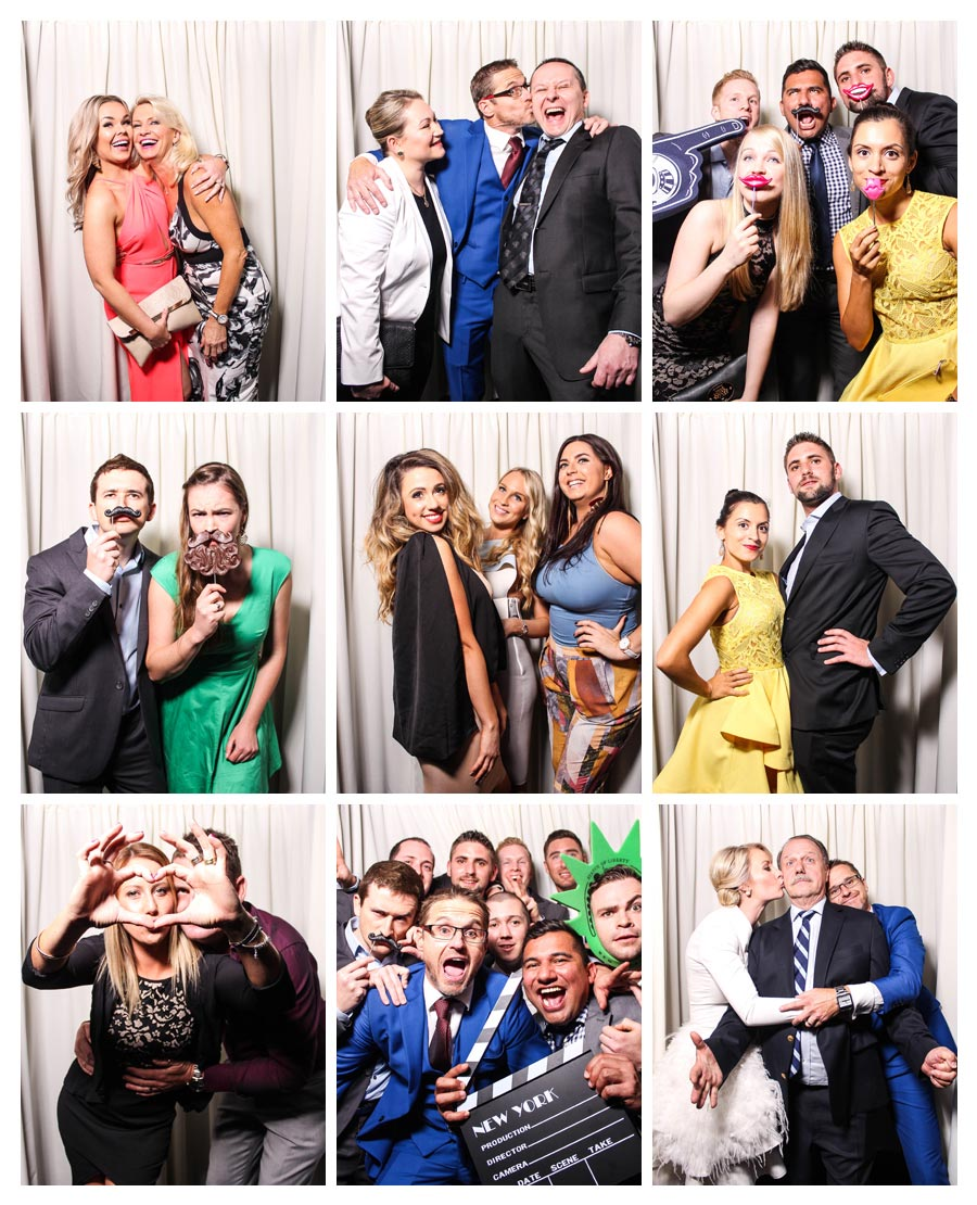 Photobooth with Ivory Backdrop at Wedding