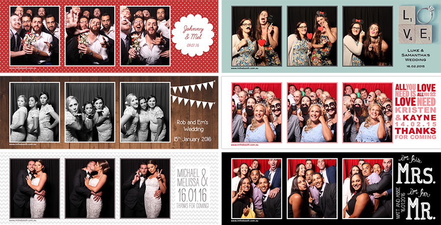 Different Instant Print designs for Wedding