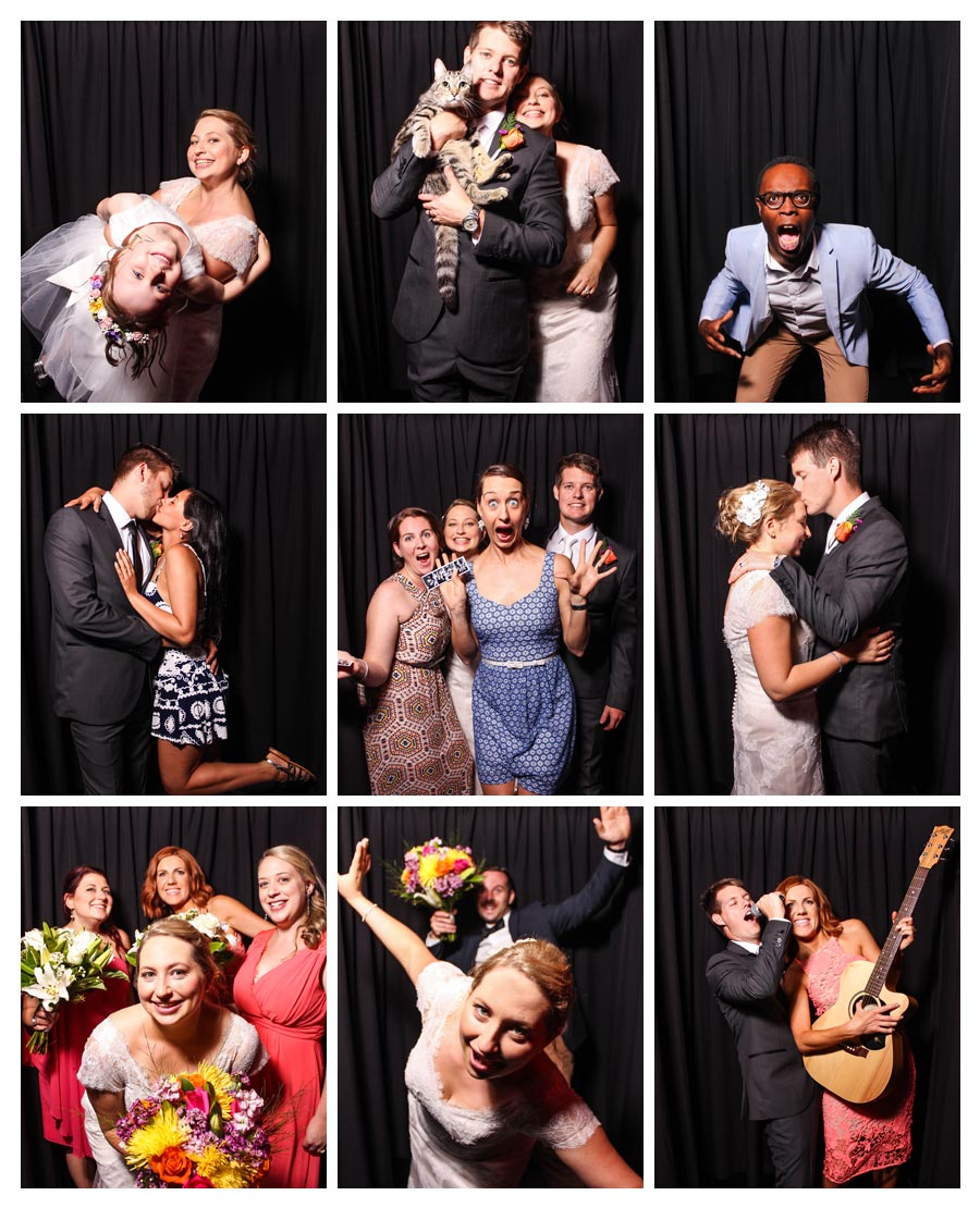 Black Backdrop Photobooth for Wedding