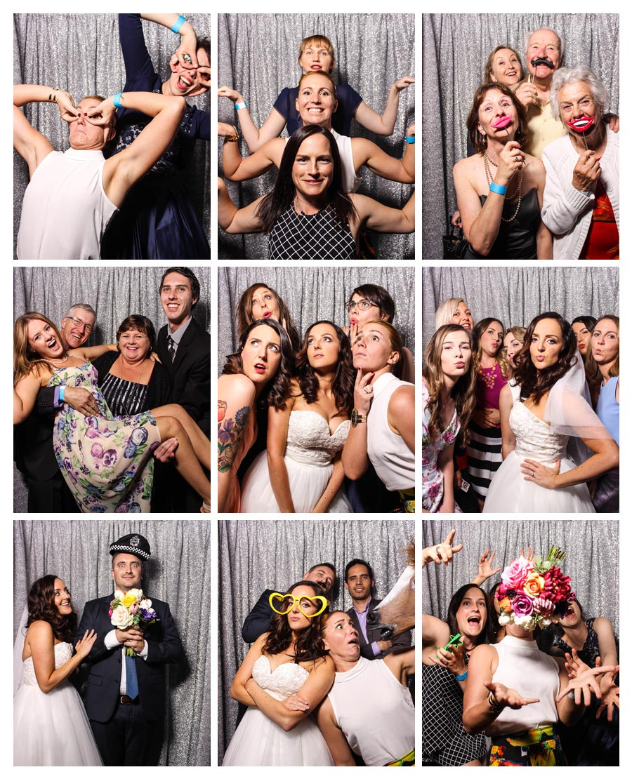 Wedding Photo Booth with Silver Backdrop