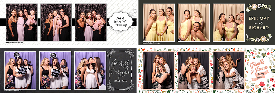 Different print styles for wedding booth