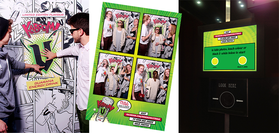 Custom Touchscreen and Branding for Corporate Photobooth Event